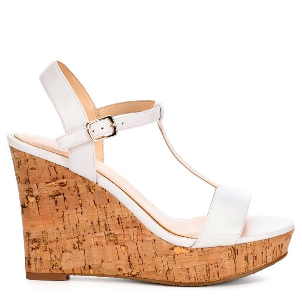 Michael By Shannon Womens Libby Wedge Sandal White USA - GOOFASH - Womens SANDALS