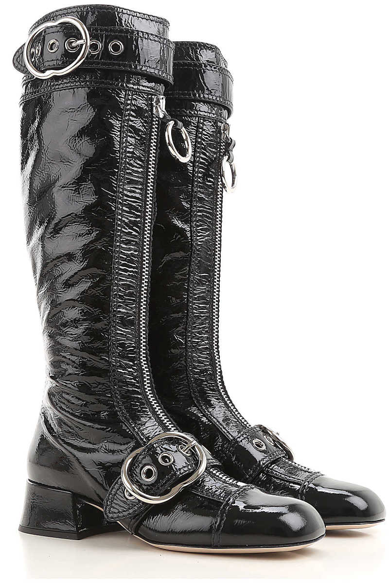 Miu Miu Boots for Women Booties On Sale in Outlet - GOOFASH