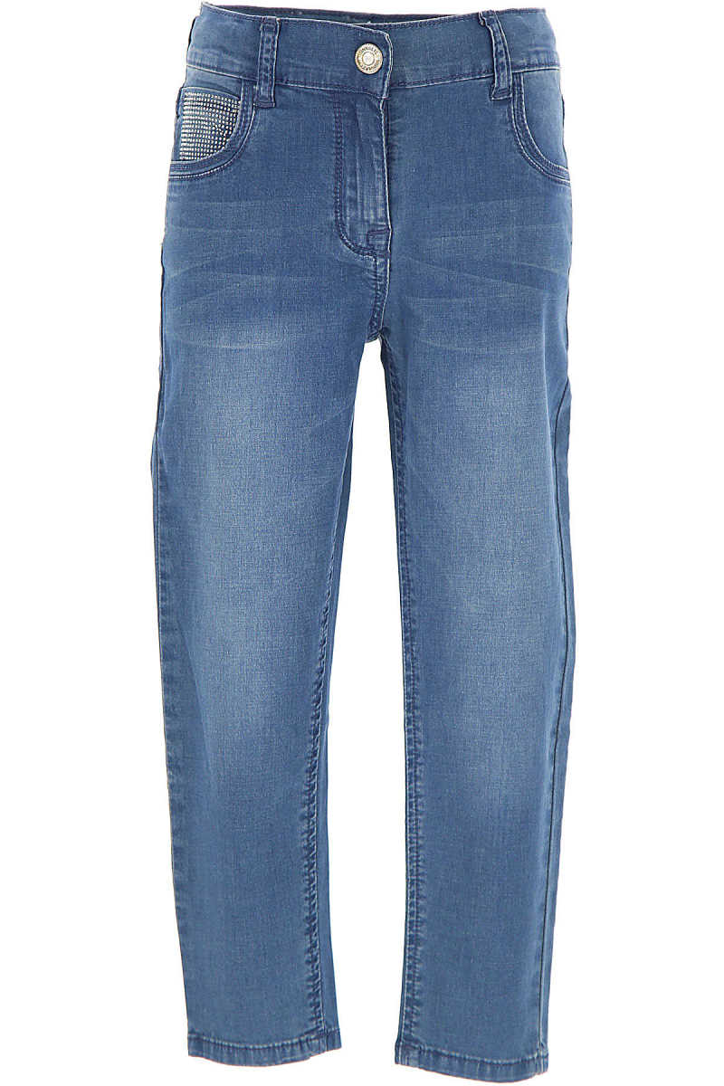 Monnalisa Kids Jeans for Girls in Outlet blue Jeans USA - GOOFASH