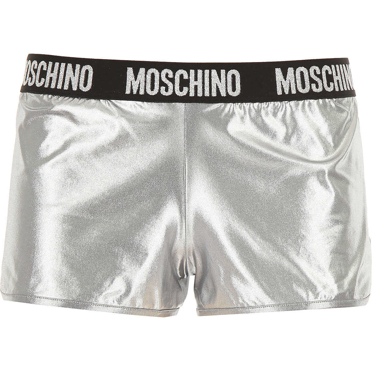 Moschino Shorts for Women On Sale Silver - GOOFASH