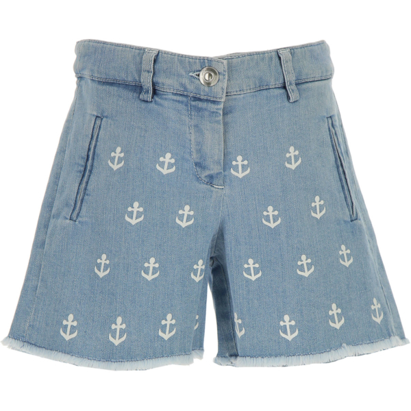 NO 21 Kids Shorts for Girls On Sale in Outlet Blue Denim SE - GOOFASH