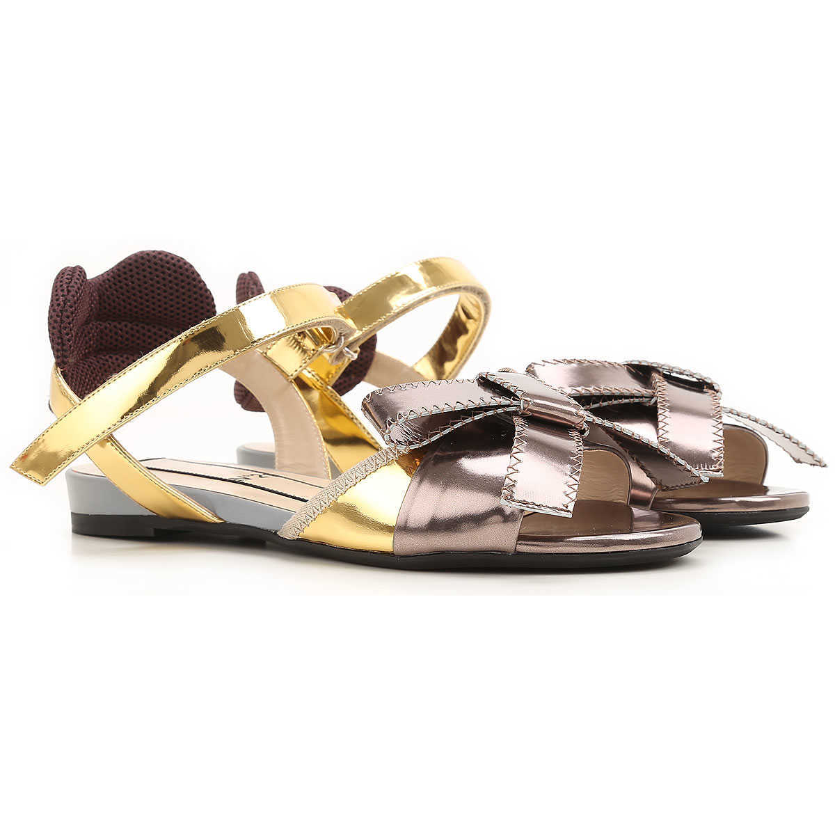 NO 21 Sandals for Women On Sale in Outlet Gold - GOOFASH