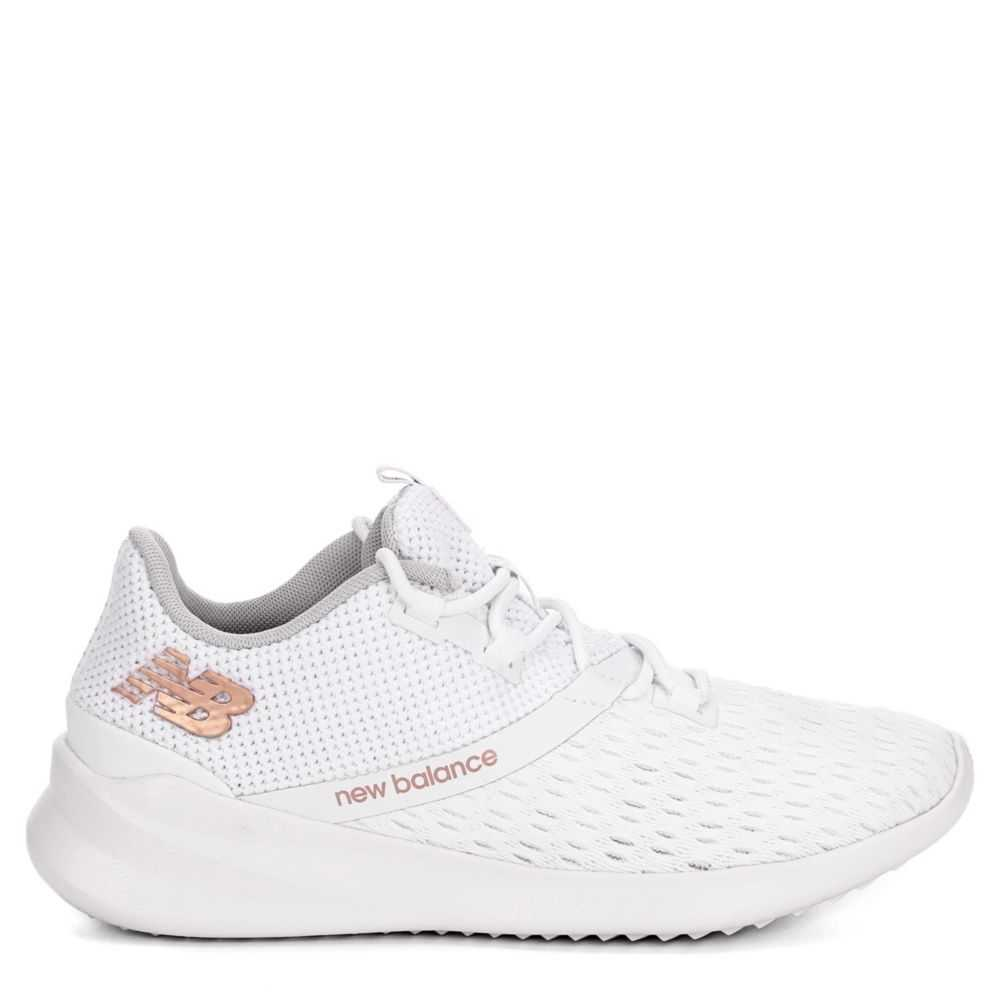 New Balance Womens District Running Shoes Sneakers White USA - GOOFASH - Womens SNEAKER