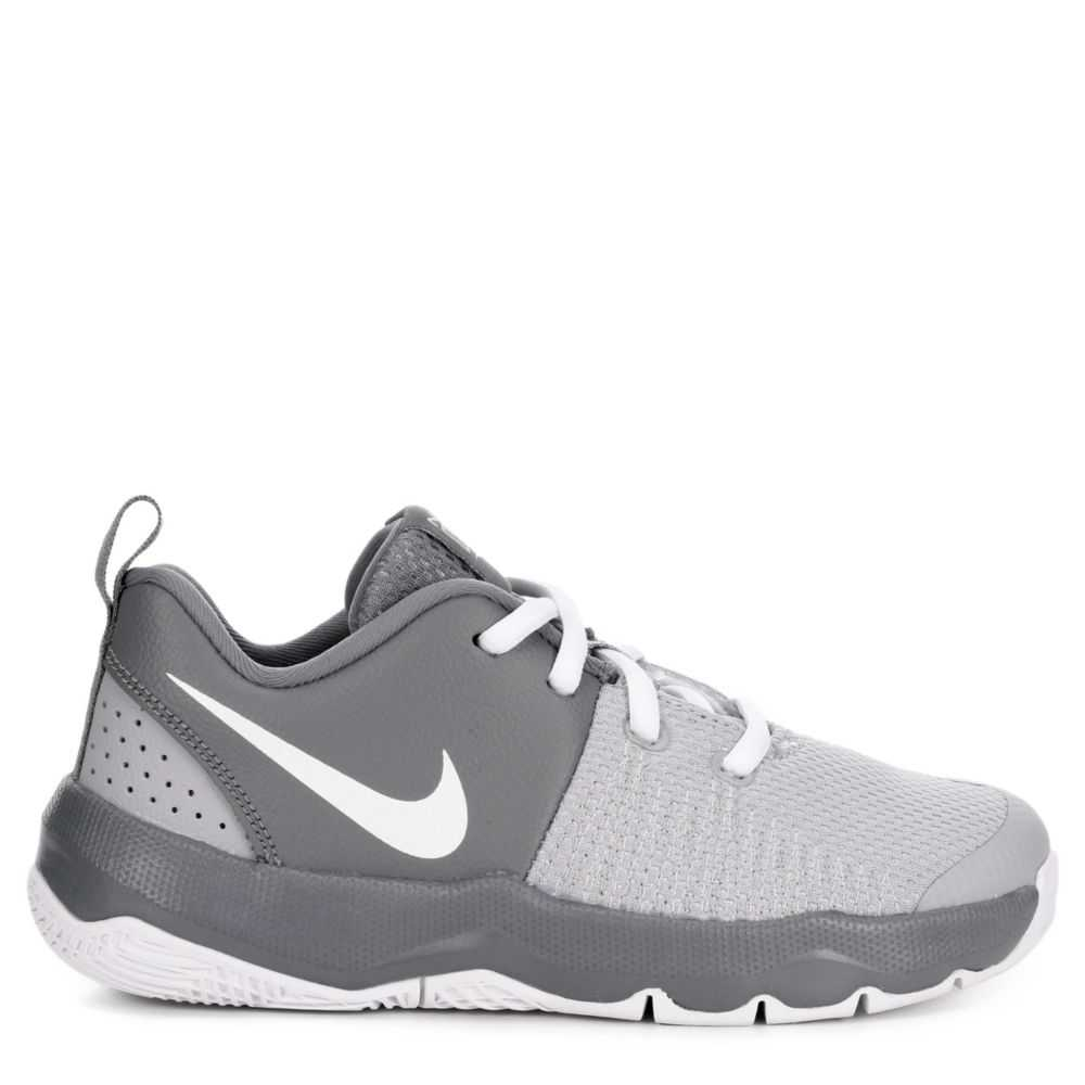 Nike Boys Team Hustle Quick Backetball Shoes Basketball Sneakers Grey USA - GOOFASH - Mens SNEAKER