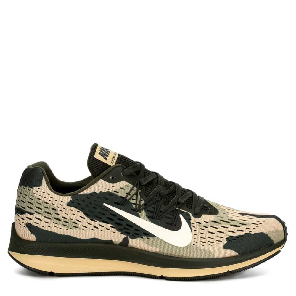 Nike Mens Zoom Winflo 5 Running Shoes Sneakers Olive USA - GOOFASH - Mens SNEAKER