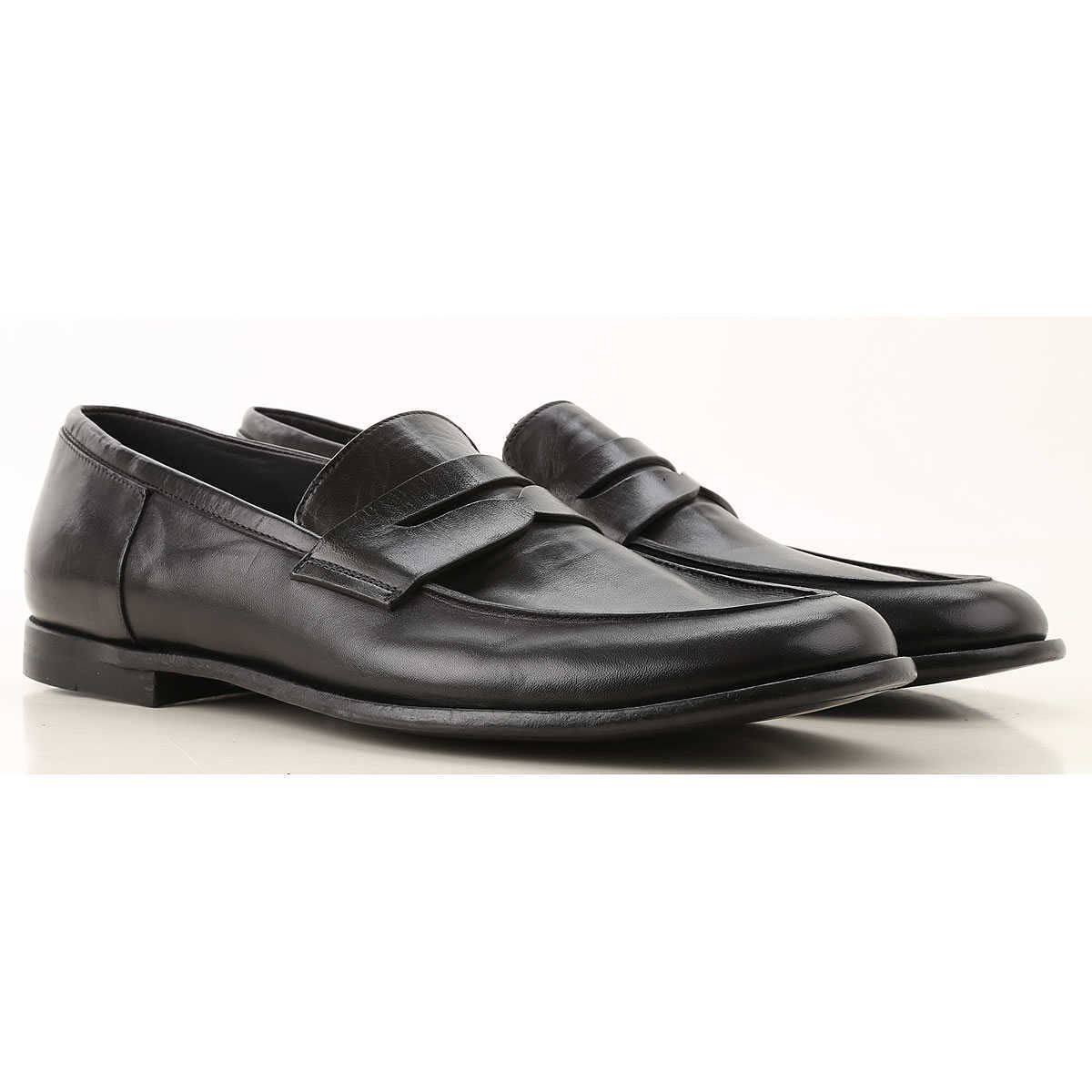 Pantanetti Loafers for Men On Sale Black - GOOFASH