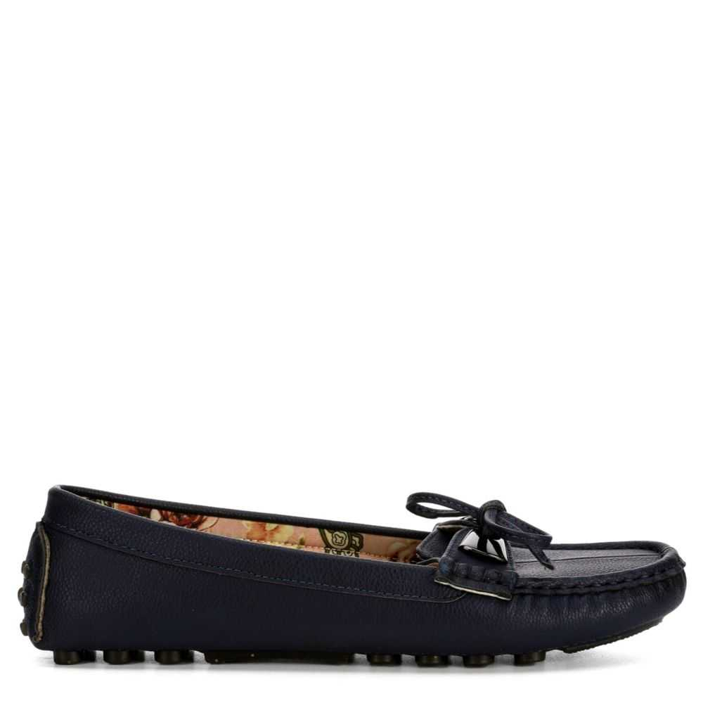 Patrizia Womens Dalpiana Loafers Navy USA - GOOFASH - Womens FLAT SHOES