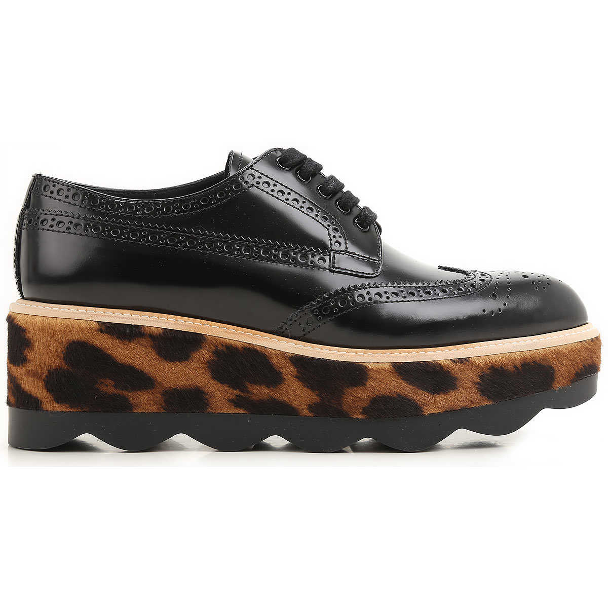 Prada Brogues Oxford Shoes On Sale in Outlet Black UK - GOOFASH