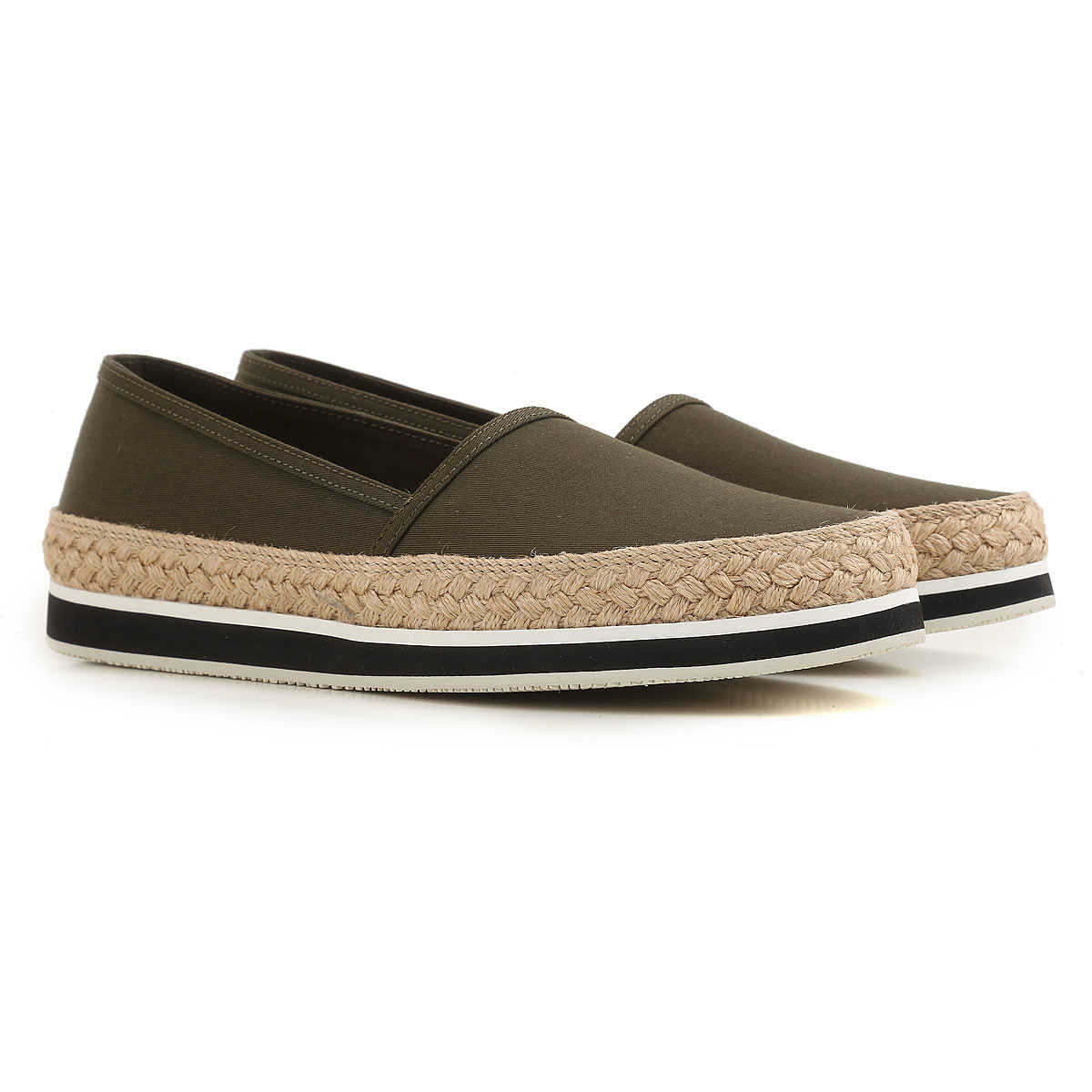 Prada Slip on Sneakers for Women On Sale in Outlet Military Green - GOOFASH