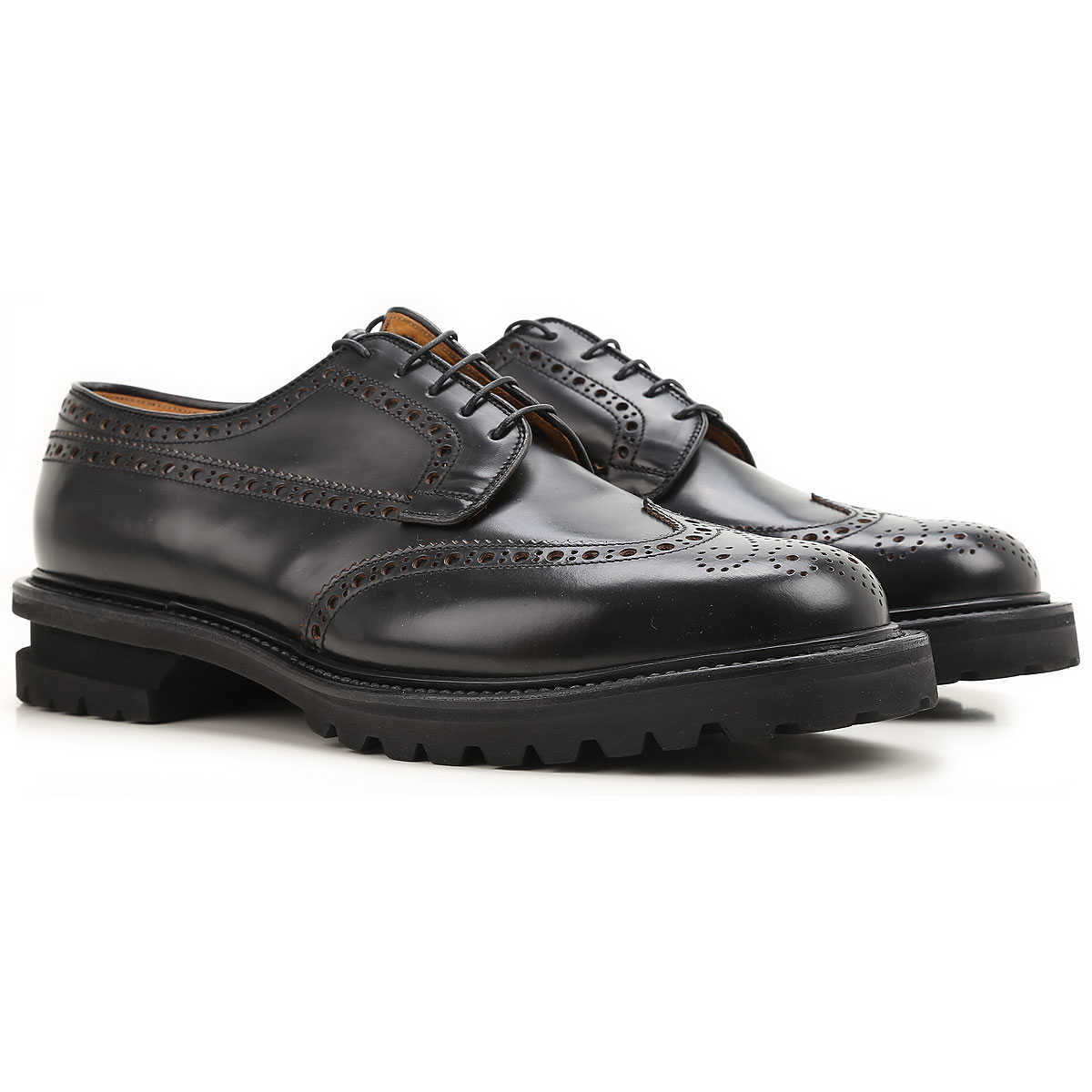 Premiata Brogue Shoes On Sale in Outlet Black - GOOFASH