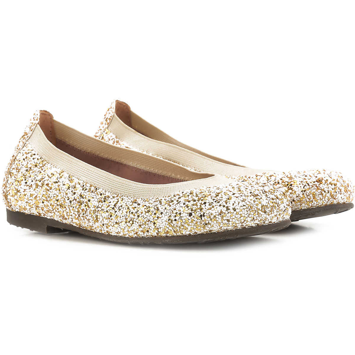 Pretty Ballerinas Kids Shoes for Girls in Outlet Cream USA - GOOFASH