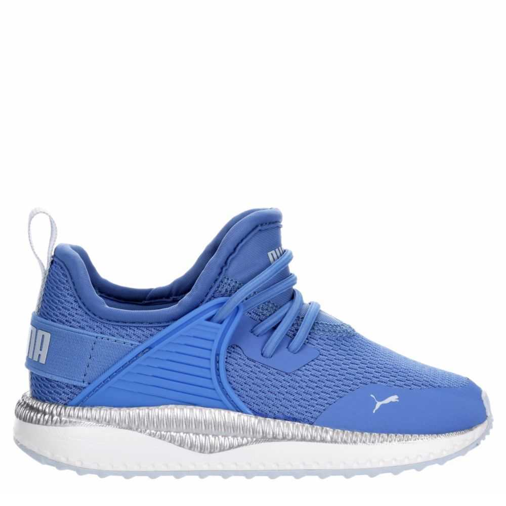 Puma Girls Pacer Shoes Sneakers Blue USA - GOOFASH - Womens SNEAKER