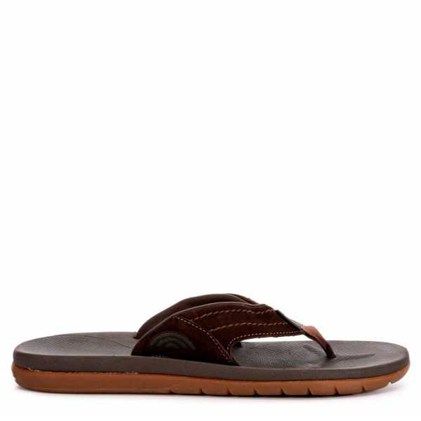 Rainbow Sandals Mens East Cape Dark Brown USA - GOOFASH - Mens SANDALS