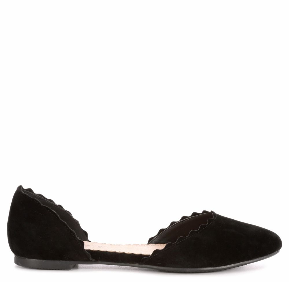 Restricted Womens Go Ahead Flats Shoes Black USA - GOOFASH - Womens FLAT SHOES