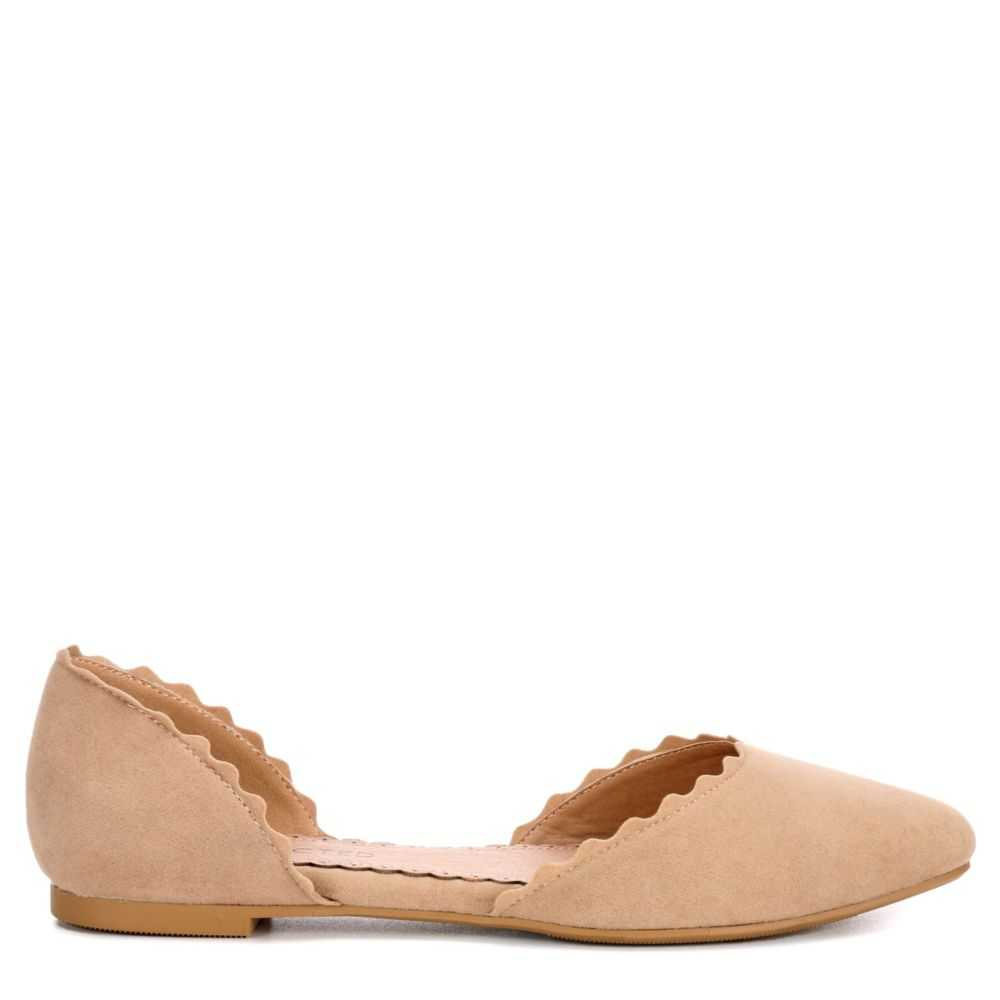 Restricted Womens Go Ahead Flats Shoes Nude USA - GOOFASH - Womens FLAT SHOES
