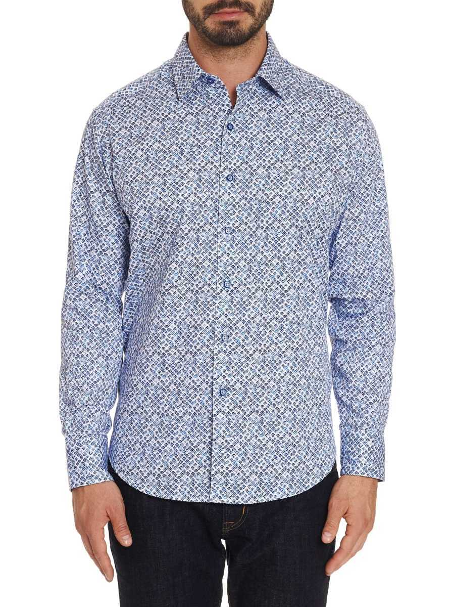Robert Graham Men's Celadon Sport Shirt Big In USA - GOOFASH