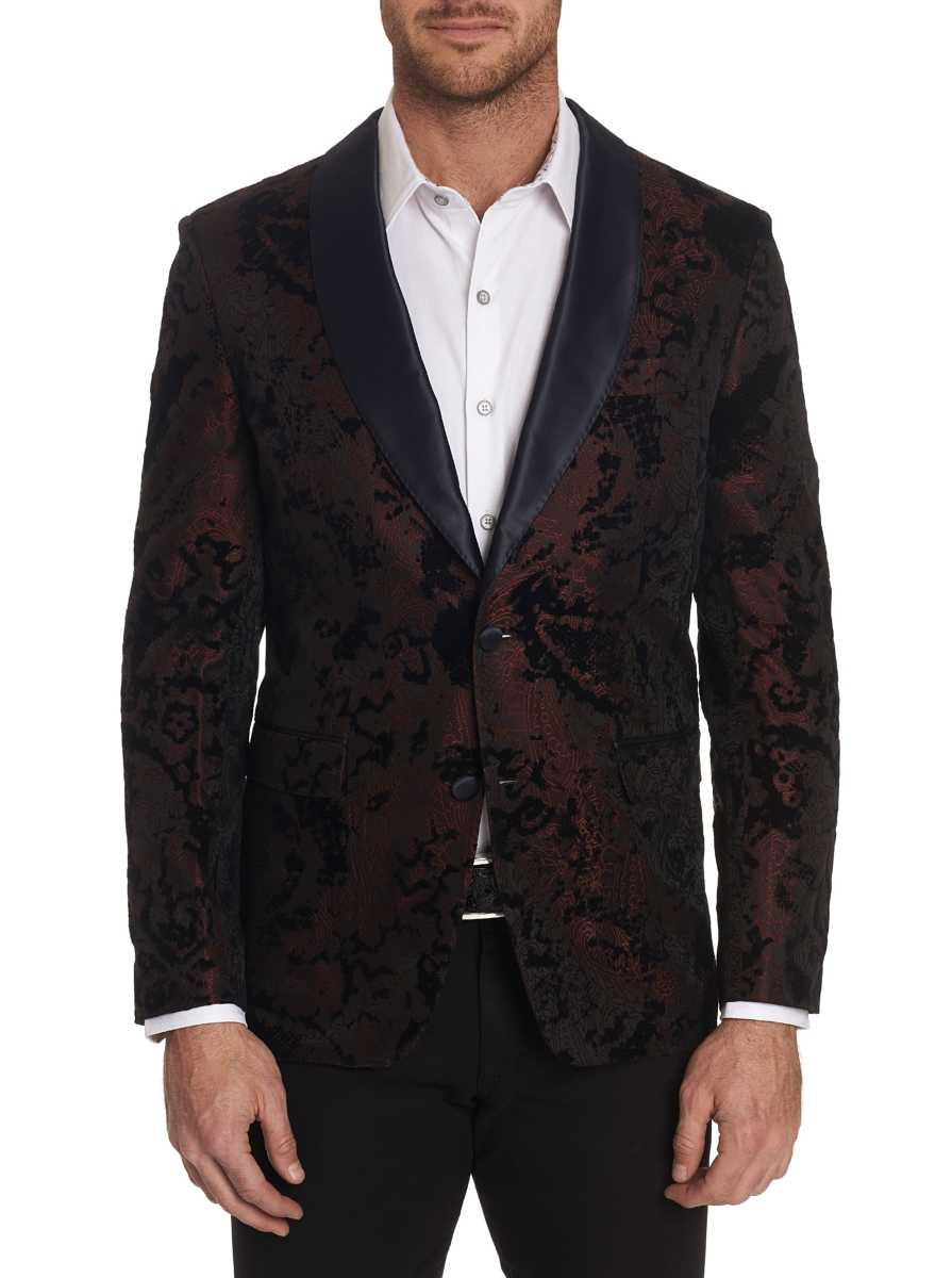 Robert Graham Men's Chatsworth Sport Coat In Burgundy USA - GOOFASH