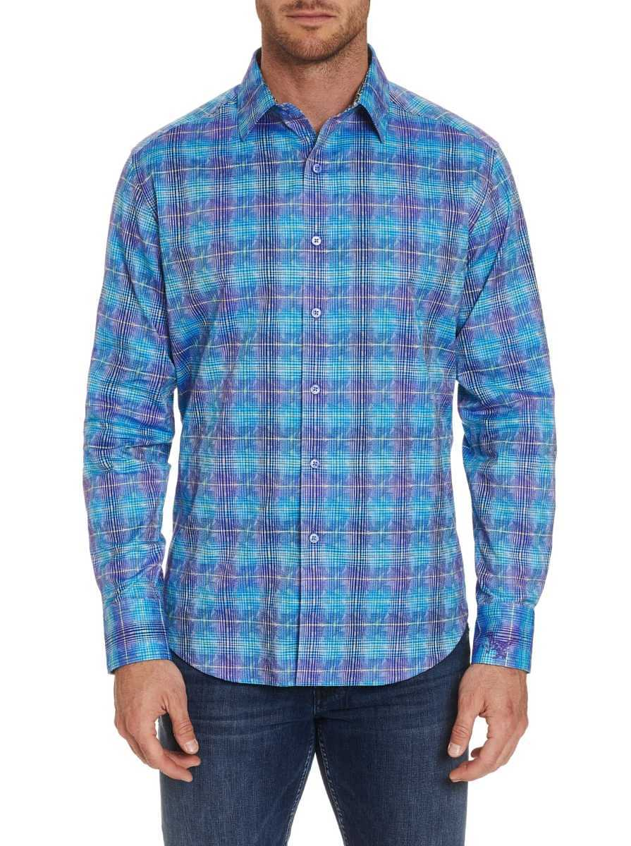 Robert Graham Men's Cirillo Sport Shirt In Teal USA - GOOFASH
