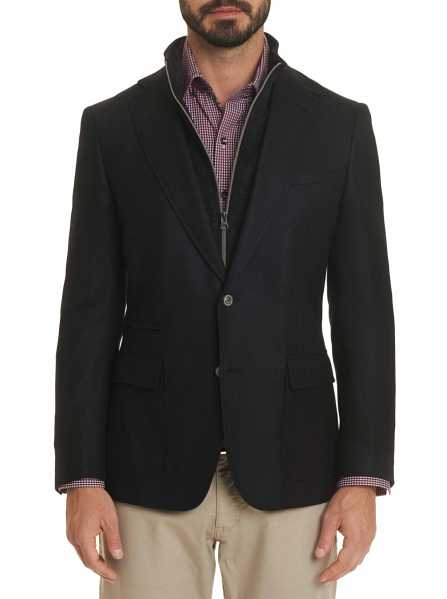 Robert Graham Men's Downhill I Sport Coat In Black USA - GOOFASH