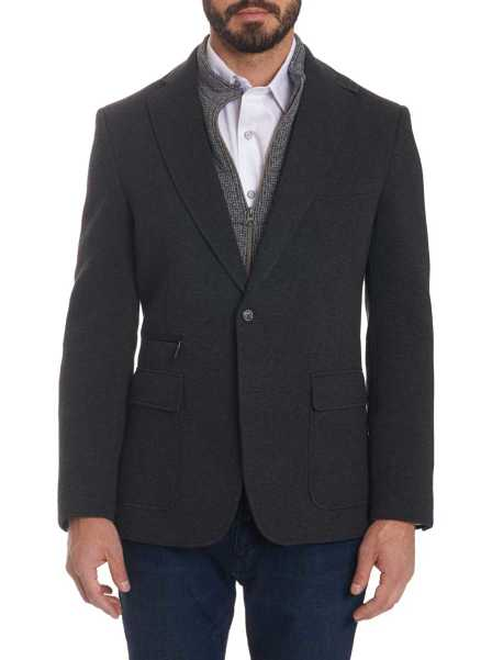 Robert Graham Men's Downhill Sport Coat In Grey USA - GOOFASH