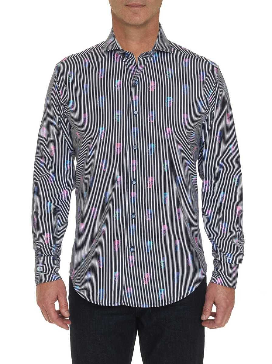 Robert Graham Men's Nola Skull Sport Shirt USA - GOOFASH