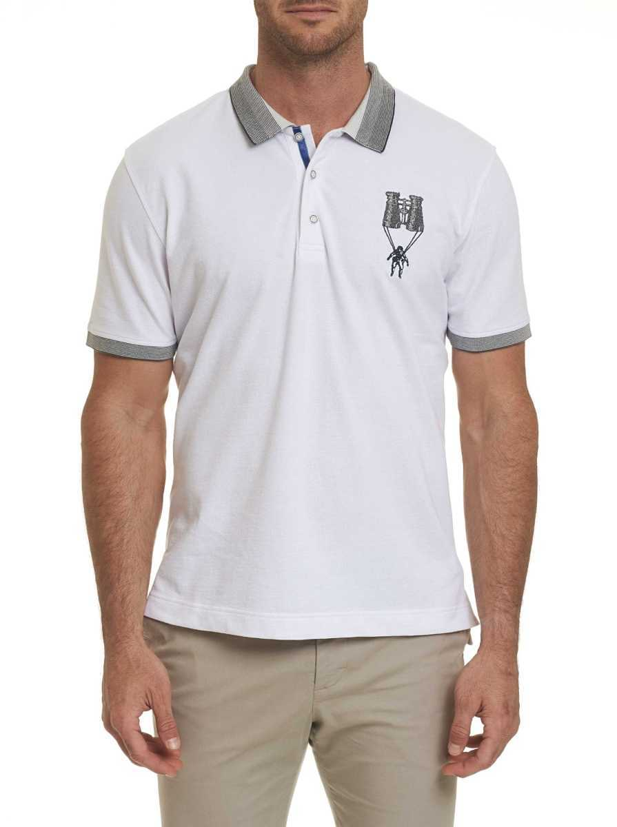 Robert Graham Men's Out of Sight Polo Shirt In White USA - GOOFASH
