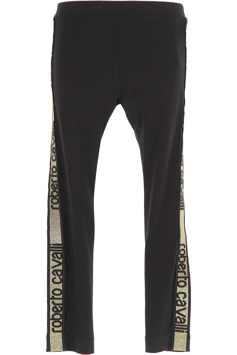 Roberto Cavalli Kids Pants for Girls in Outlet Black USA - GOOFASH