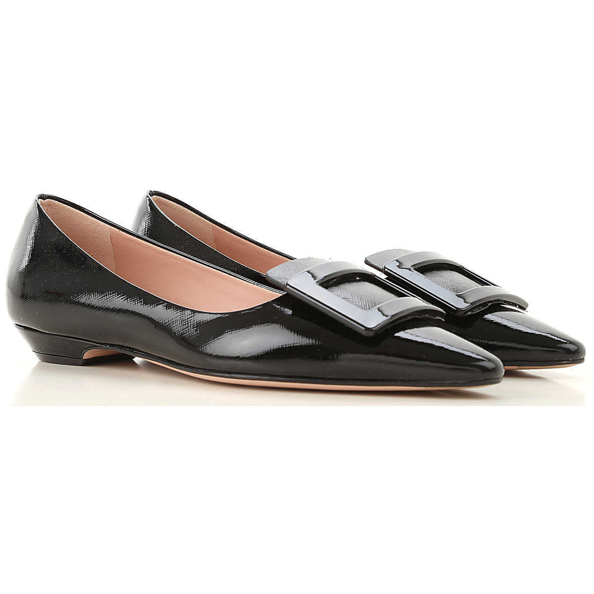 Roberto Festa Ballet Flats Ballerina Shoes for Women Black - GOOFASH