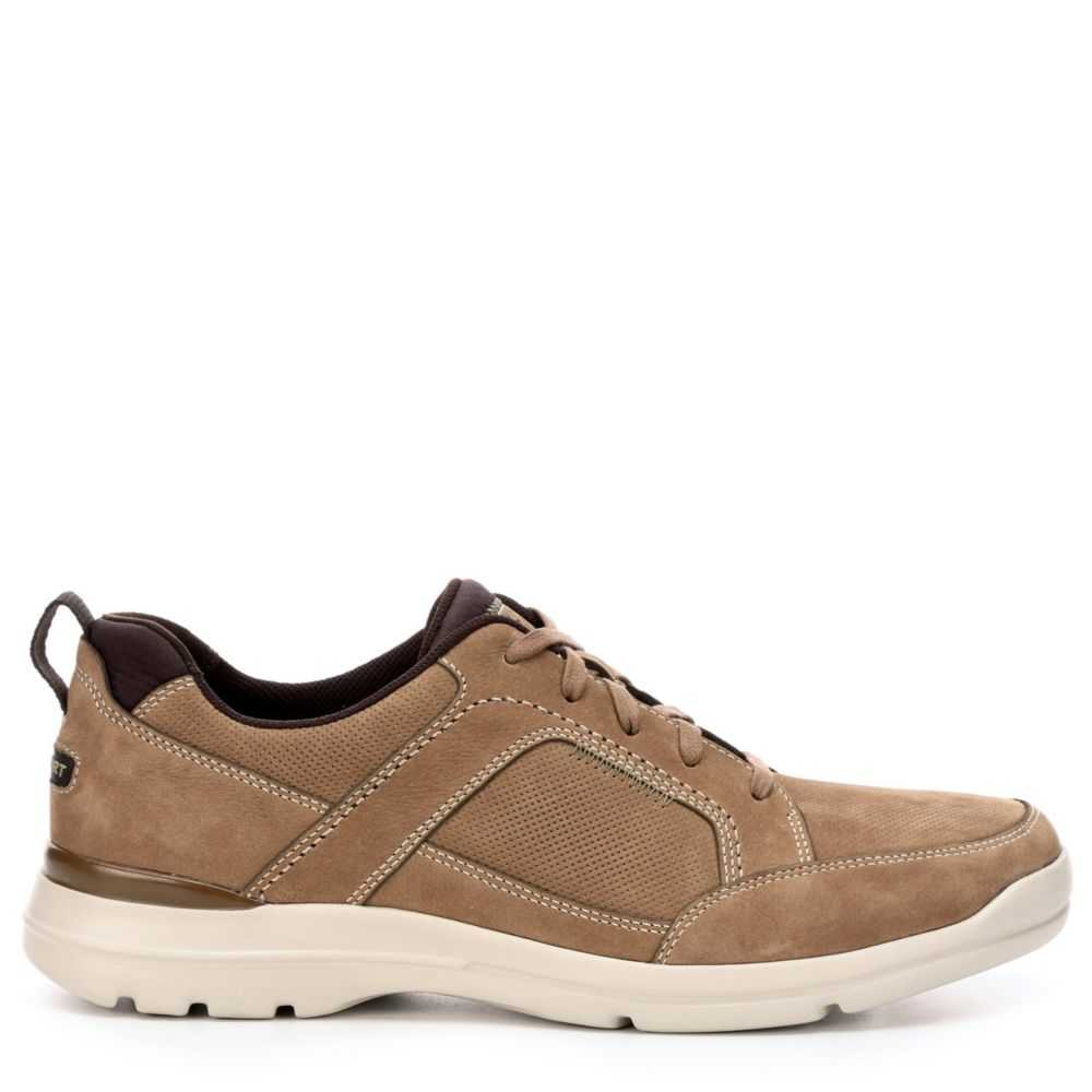 Rockport Mens City Edge Lace Up Oxfords Taupe USA - GOOFASH - Mens FORMAL SHOES
