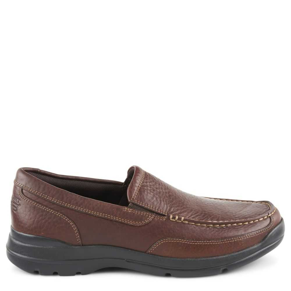 Rockport Mens Junction Point Slip-On Loafers Chocolate USA - GOOFASH - Mens LOAFERS