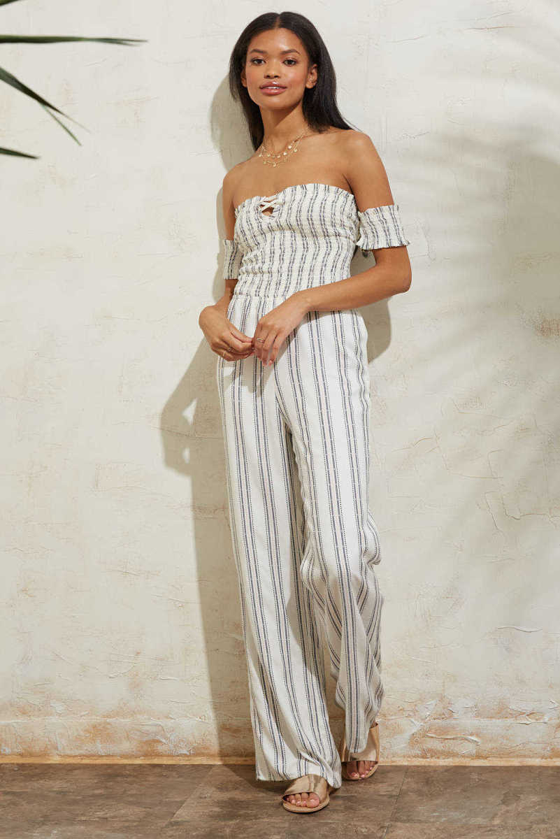 Sage The Label Theory Jumpsuit White L USA - GOOFASH