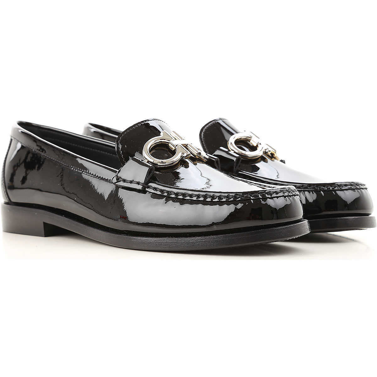 Salvatore Ferragamo Loafers for Women On Sale in Outlet Black - GOOFASH