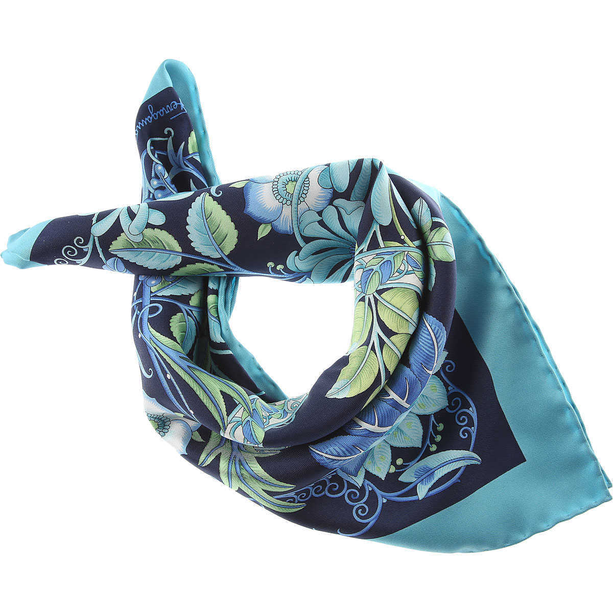 Salvatore Ferragamo Scarf for Women On Sale Aquarium - GOOFASH
