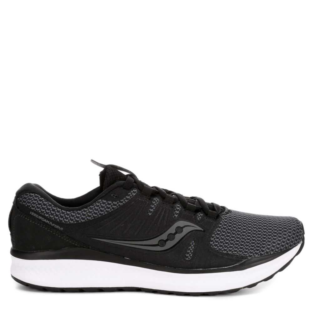 Saucony Mens Inferno Running Shoes Sneakers Black USA - GOOFASH - Mens SNEAKER