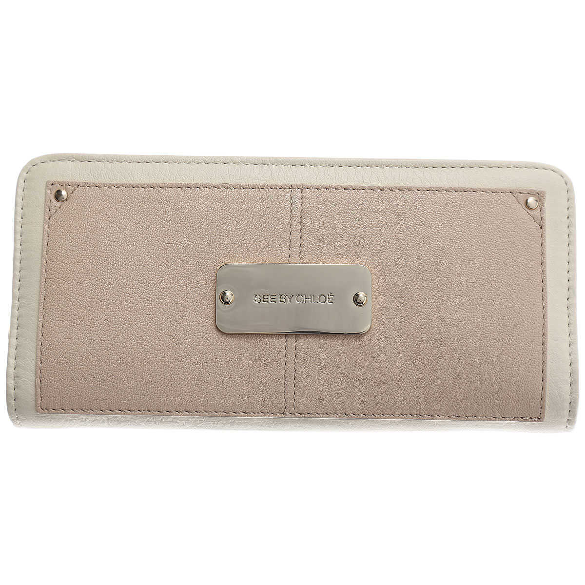 See By Chloe Wallet for Women Cream - GOOFASH