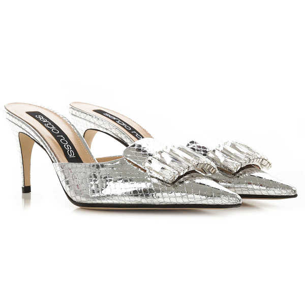 Sergio Rossi Sandals for Women On Sale Silver - GOOFASH