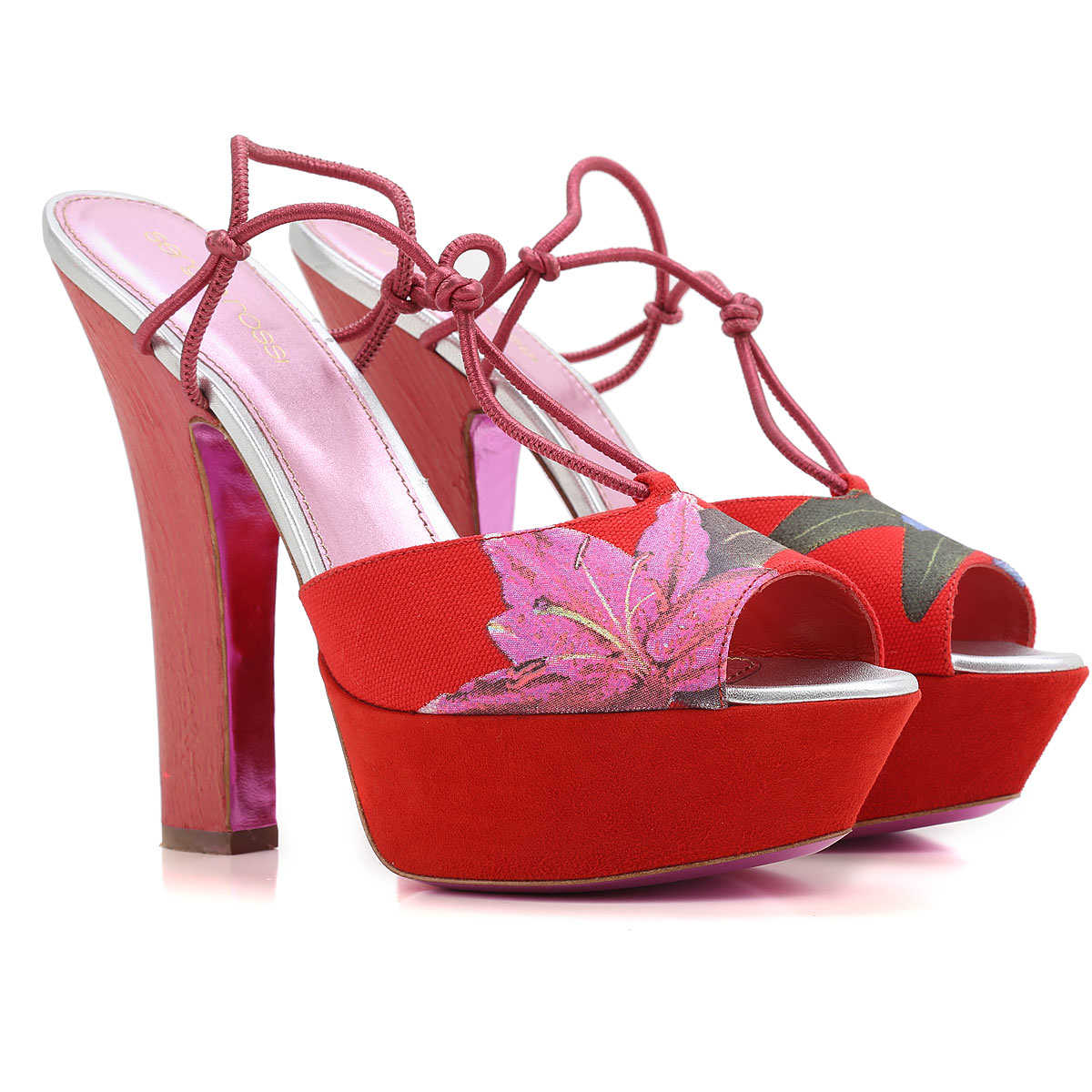 Sergio Rossi Wedges for Women On Sale in Outlet Red UK - GOOFASH