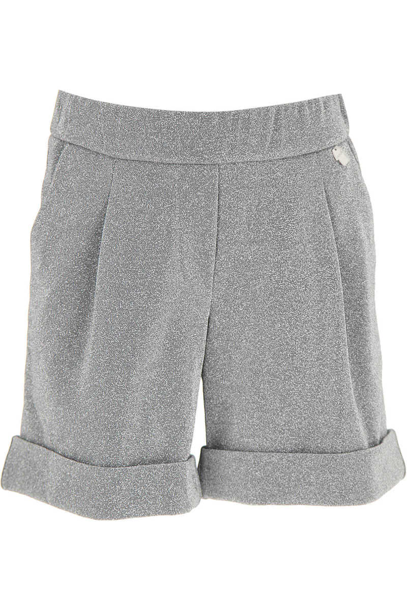 Simonetta Kids Shorts for Girls Silver SE - GOOFASH