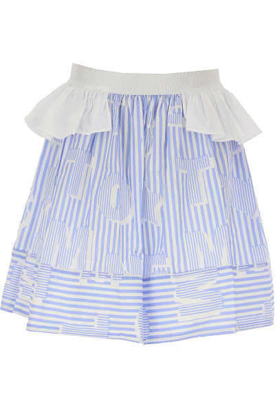 Simonetta Kids Skirts for Girls White USA - GOOFASH