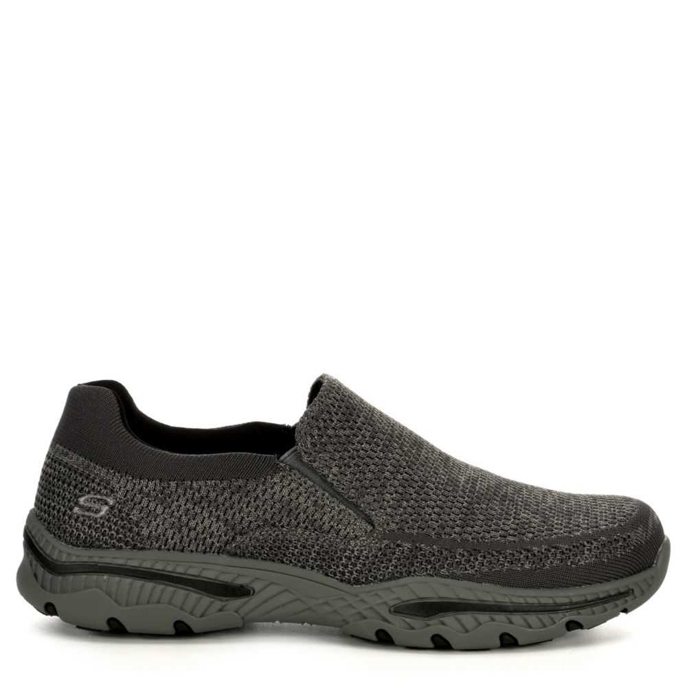 Skechers Mens Creston-Barron Relaxed Fit Active Loafer Grey USA - GOOFASH - Mens LOAFERS