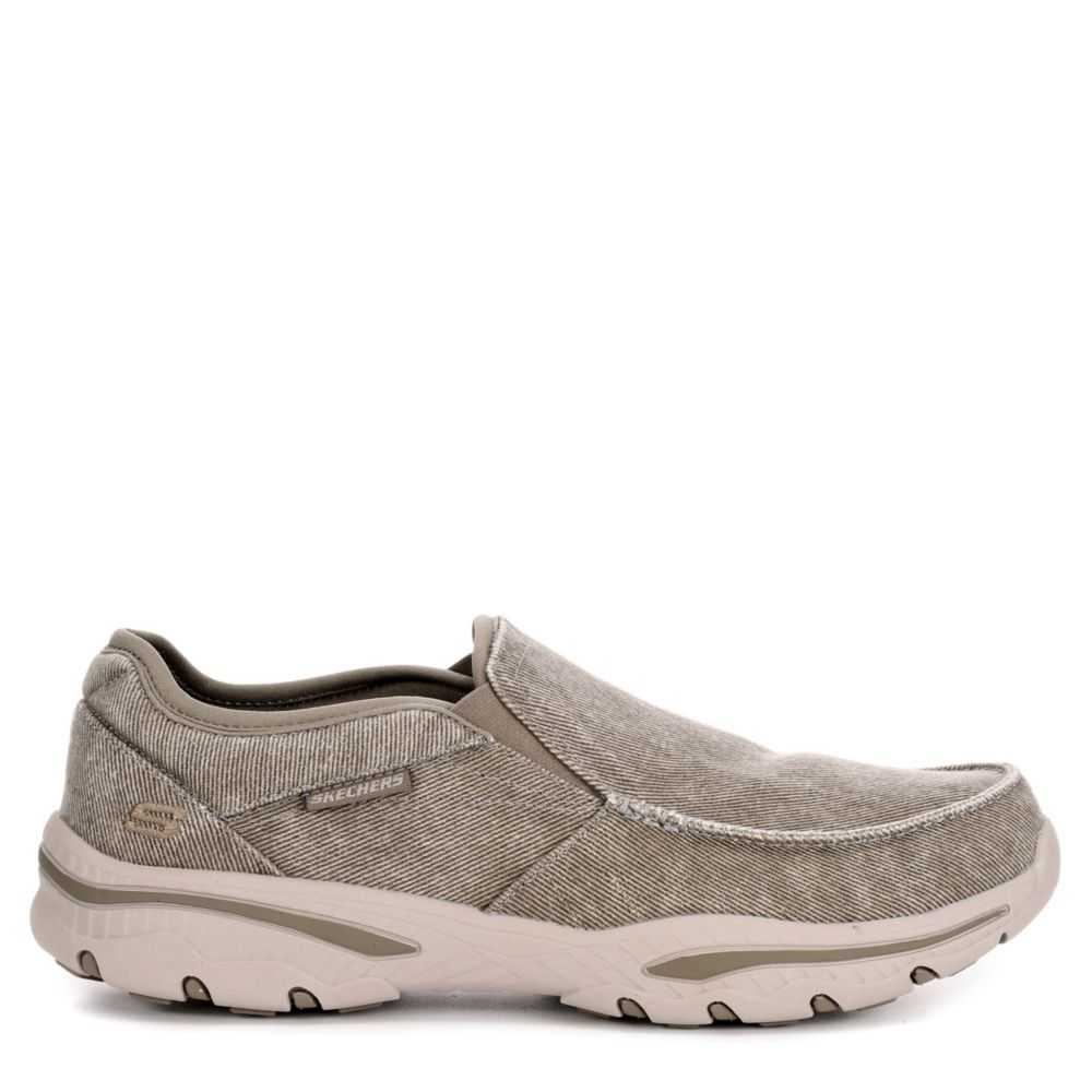 Skechers Mens Creston-Moseco Relaxed Fit Memory Foam Loafer Taupe USA - GOOFASH - Mens LOAFERS