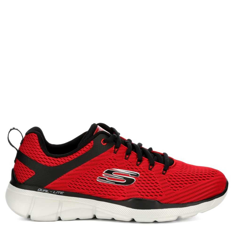 Skechers Mens Equalizer 3.0 Shoes Sneakers Red USA - GOOFASH - Mens SNEAKER