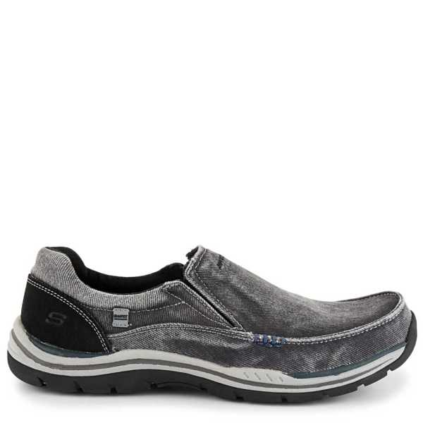 Skechers Mens Expected-Avillo Relaxed Fit Active Loafer Black USA - GOOFASH - Mens LOAFERS