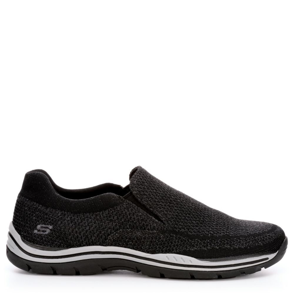 Skechers Mens Expected-Gomel Relaxed Fit Casual Loafer Black USA - GOOFASH - Mens LOAFERS