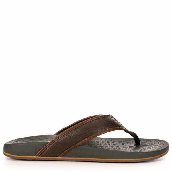 Skechers Mens Pelem-Emiro Relaxed Fit Memory Foam Thong Sandal Chocolate USA - GOOFASH - Mens SANDALS