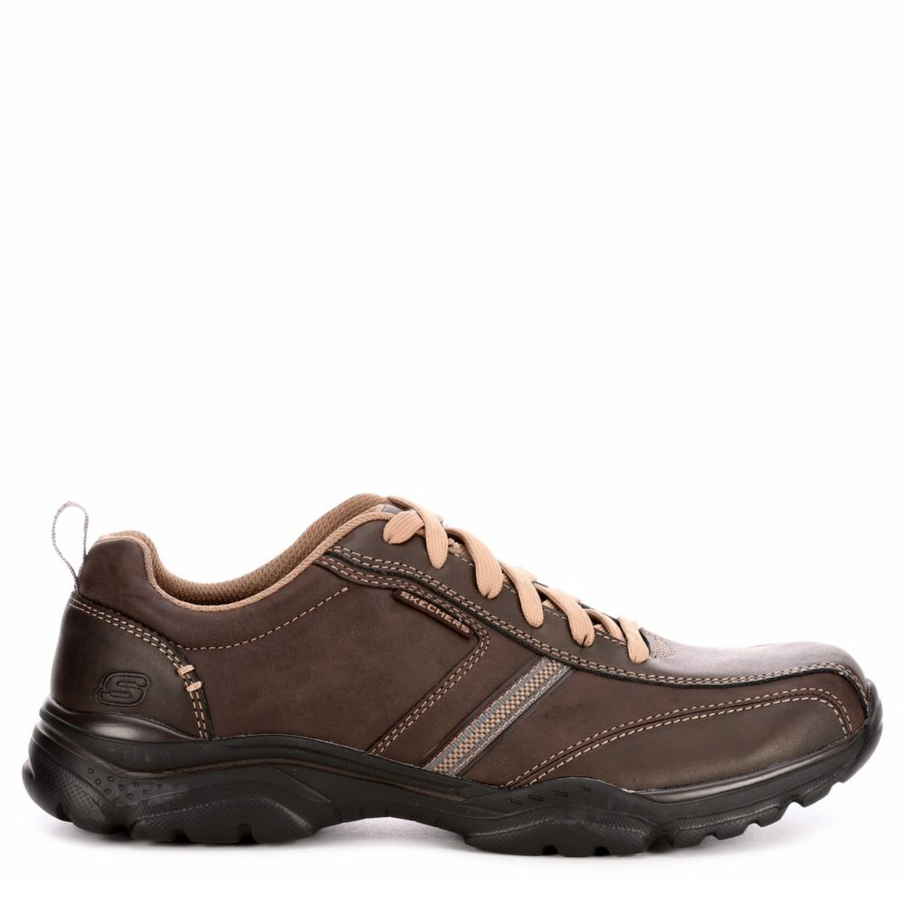 Skechers Mens Rovato Larion Oxfords Brown USA - GOOFASH - Mens LEATHERS SHOES