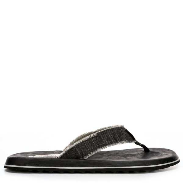 Skechers Mens Tantric-Salman Relaxed Fit Thong Sandal Black USA - GOOFASH - Mens SANDALS
