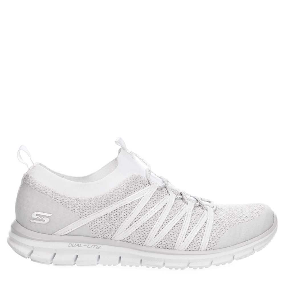 Skechers Womens Glider Shoes Sneakers White USA - GOOFASH - Womens SNEAKER