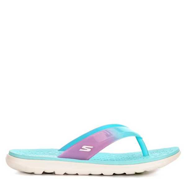 Skechers Womens Jelly Flip Flop Sandal Turquoise USA - GOOFASH - Womens SANDALS