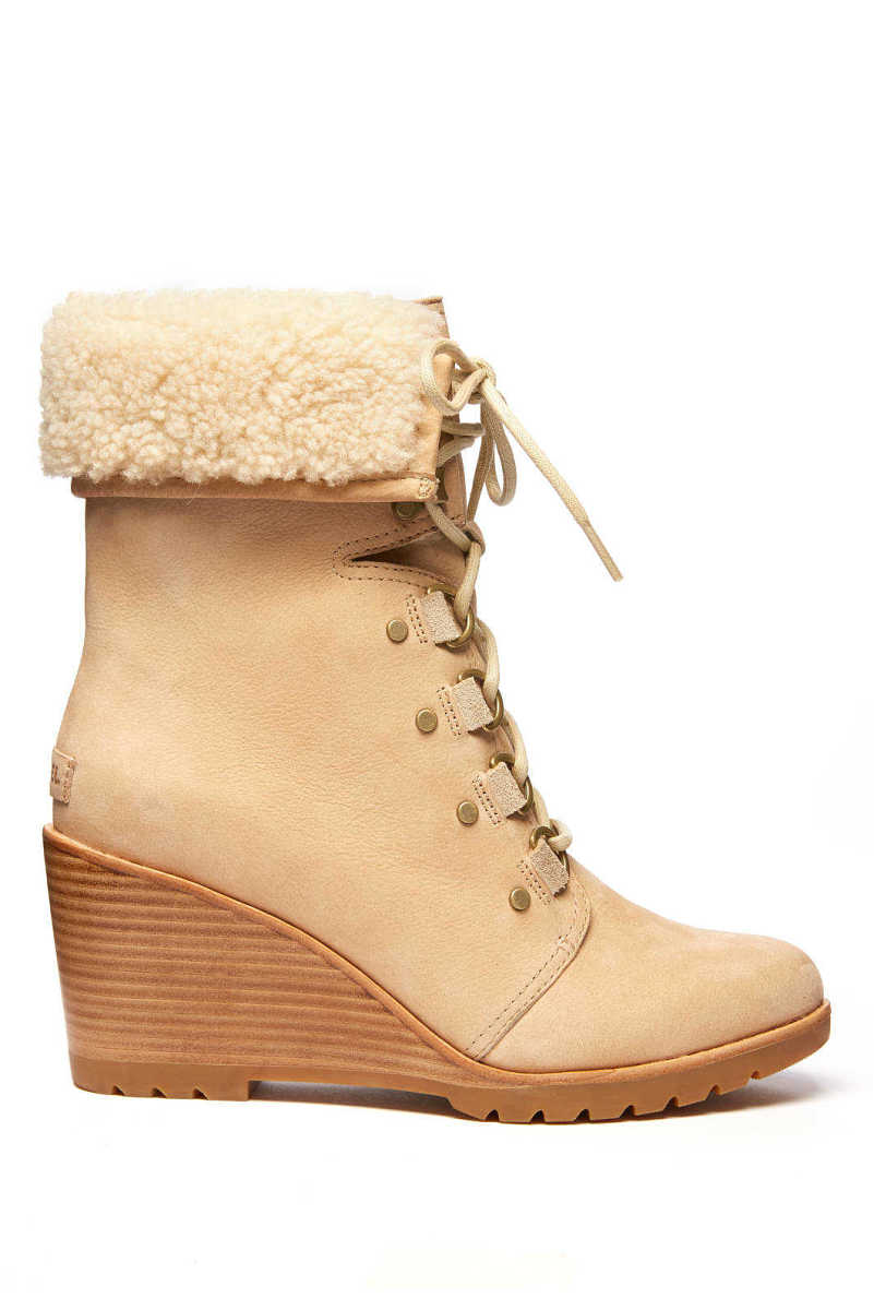 Sorel After Hours Lace Up Waterproof Boot Oatmeal 8 USA - GOOFASH